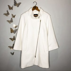 🦋🌙 NWT ETCETERA | Classic Chic Pure White Coat